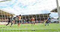 Pictured: Saturday 30 July 2016<br /> Re: Wolverhampton Wanderers v Swansea City FC, pre-season friendly at the Molineux Stadium, England, UK<br /> Swan's Wayne Routledge taps in his second goal