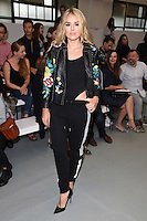 Tallia Storm<br /> at the Eudon Choi catwalk show as part of London Fashion Week SS17, Brewer Street Car Park, Soho London<br /> <br /> <br /> ©Ash Knotek  D3155  16/09/2016
