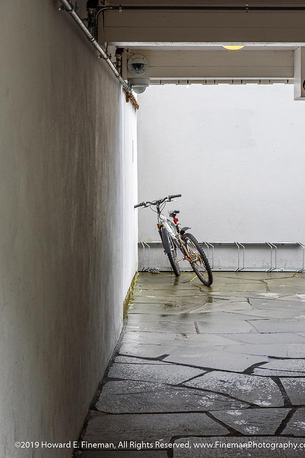 Bike-in-waiting in Kristiansand