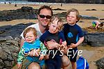 Enjoying the beach in Ballybunion on Sunday, l to r: Mark, Violet, Scarlett and Louie McElligott from Killarney.