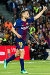 Jordi Alba Ramos of FC Barcelona reacts during the La Liga 2017-18 match between FC Barcelona and Real Madrid at Camp Nou on May 06 2018 in Barcelona, Spain. Photo by Vicens Gimenez / Power Sport Images