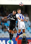 Real Sociedad's David Concha (r) and Real Madrid's Daniel Carvajal during La Liga match. August 21,2016. (ALTERPHOTOS/Acero)