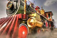 Locomotive #119 - Golden Spike NHS - Utah. Transcontinental Railroad History
