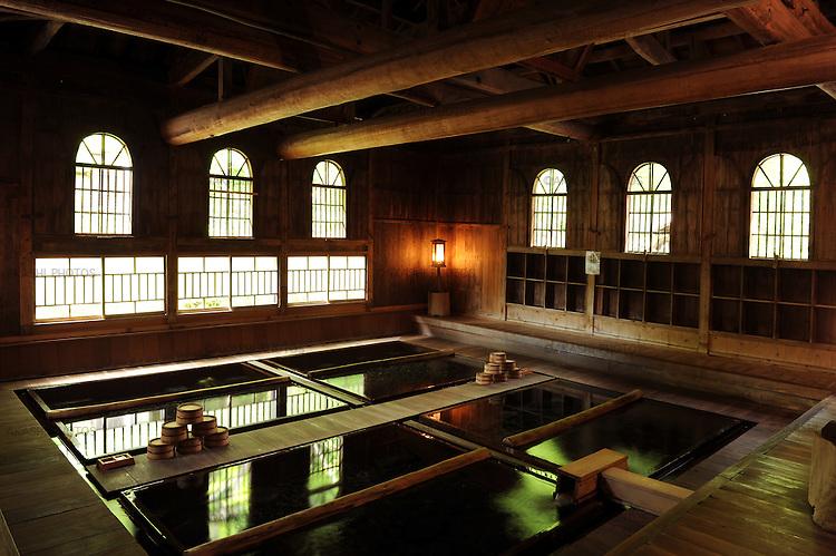 Main bath with more than 130 years of history. Hoshi Onsen Ryokan. Gunma. Japan.<br /> <br /> Bain principal avec plus de 130 ans d'histoire. Hoshi Onsen Ryokan. Gunma. Japon.