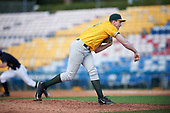 Siena Saints relief pitcher Dylan D'Anna (30) during a game against the Pittsburgh Panthers on February 24, 2017 at Historic Dodgertown in Vero Beach, Florida.  Pittsburgh defeated Siena 8-2.  (Mike Janes/Four Seam Images)