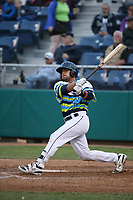 David Banuelos (48) of the Everett AquaSox bats against the Boise Hawks at Everett Memorial Stadium on July 21, 2017 in Everett, Washington. Everett defeated Boise, 10-4. (Larry Goren/Four Seam Images)