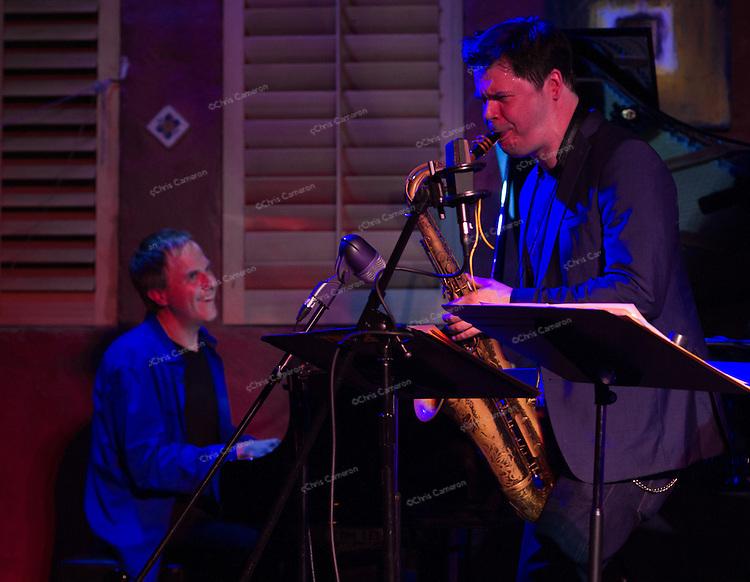 Jon Ballantye and Seamus Blake Play in Alan Jones Canadian All Star Sextet, June 25, 2013 in the TD Vancouver International Jazz Festival