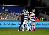 17th February 2021; The Kiyan Prince Foundation Stadium, London, England; English Football League Championship Football, Queen Park Rangers versus Brentford; Brentford Manager Thomas Frank confronts Yoann Barbet of Queens Park Rangers after full time