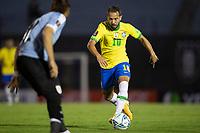 17th November 2020; Centenario Stadium, Montevideo, Uruguay; Qatar 2022 qualifiers; Uruguay versus Brazil; Éverton Ribeiro of Brazil breaks forward towards goal