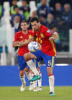 Spain Sergio Busquets during the Fifa World Cup 2018 qualification soccer match between Italy and Spain at Turin's Juventus Stadium, October 6, 2016. The game ended 1-1.<br /> UPDATE IMAGES PRESS/Isabella Bonotto
