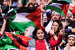 A Palestine soccer fan shows support for their team prior to the AFC Asian Cup UAE 2019 Group B match between Palestine (PLE) and Australia (AUS) at Rashid Stadium on 11 January 2019 in Dubai, United Arab Emirates. Photo by Marcio Rodrigo Machado / Power Sport Images
