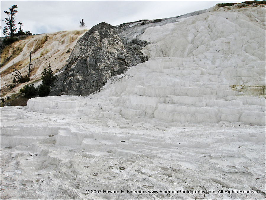 Mammoth Springs, carbonate deposits, Yellowstone NP