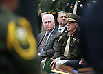 Assembly Speaker John Hambrick, R-Las Vegas, and Clark County Sheriff Joe Lombardo participate in the annual Nevada Law Enforcement Officers Memorial Ceremony on the Capitol Mall in Carson City, Nev., on Thursday, May 7, 2015. T<br /> Photo by Cathleen Allison