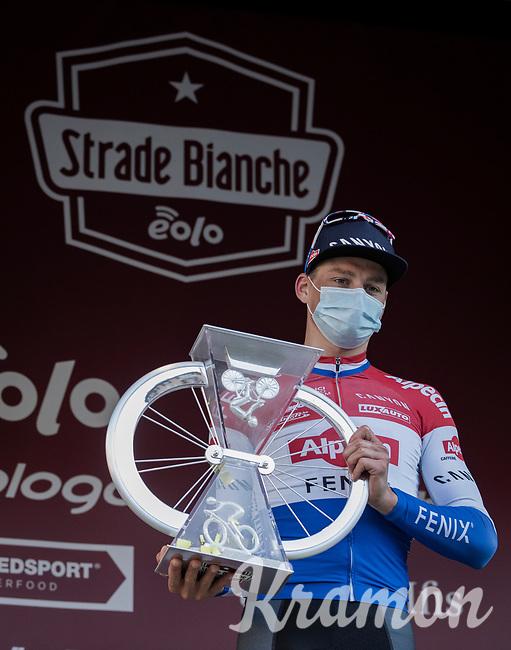 Mathieu Van der Poel (NED/Alpecin-Fenix) wins the 15th Strade Bianche 2021<br /> <br /> ME (1.UWT)<br /> 1 day race from Siena to Siena (ITA/184km)<br /> <br /> ©kramon