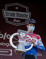 Mathieu Van der Poel (NED/Alpecin-Fenix) wins the 15th Strade Bianche 2021<br /> <br /> ME (1.UWT)<br /> 1 day race from Siena to Siena (ITA/184km)<br /> <br /> ©kramon