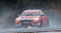 23rd August 2020; Oulton Park Circuit, Little Budworth, Cheshire, England; Kwik Fit British Touring Car Championship, Oulton Park, Race Day;  Andy Neate Motorbase Performance driving a Ford Focus ST in very wet conditions in race 2