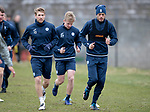 St Johnstone Training…06.04.18   McDiarmid Park, Perth<br />David Wotherspoon and Murray Davidson pictured training this morning ahead of tomorrow's game against Motherwell<br />Picture by Graeme Hart.<br />Copyright Perthshire Picture Agency<br />Tel: 01738 623350  Mobile: 07990 594431