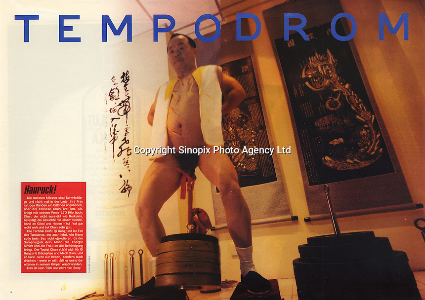 Penis Weightlifter for Tempo Magazine © Sinopix