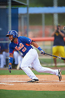 GCL Mets first baseman Carlos Sanchez (21) at bat during a game against the GCL Marlins on August 12, 2016 at St. Lucie Sports Complex in St. Lucie, Florida.  GCL Marlins defeated GCL Mets 8-1.  (Mike Janes/Four Seam Images)