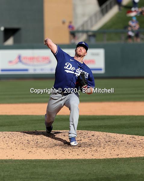 Josh Sborz - Los Angeles Dodgers 2020 spring training (Bill Mitchell)