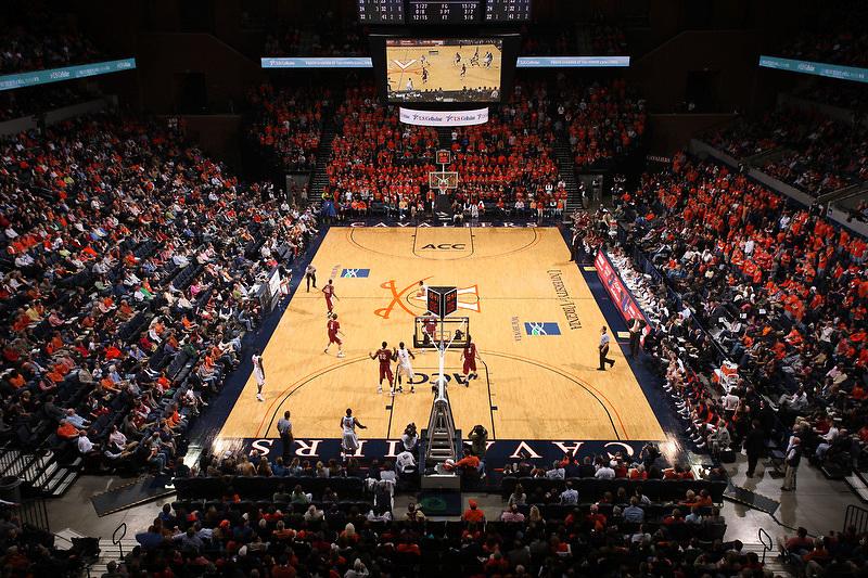 Virginia Cavalier basketball at the University of Virginia in Charlottesville, VA. Photo/Andrew Shurtleff.