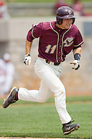 Anthony Melchionda #11 of the Boston College Eagles hustles down the first base line against the Virginia Tech Hokies at English Stadium May 2, 2010, in Blacksburg, Virginia.  Photo by Brian Westerholt / Four Seam Images