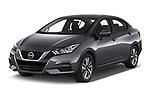 2020 Nissan Versa SV 4 Door Sedan angular front stock photos of front three quarter view