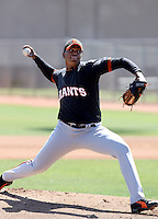 Edward Concepcion, San Francisco Giants 2010 extended spring training..Photo by:  Bill Mitchell/Four Seam Images.