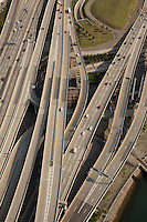 Big Dig, South East Expressway aerial view, , Boston, MA