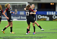 Minneapolis, MN - October 23, 2016: The U.S. Women's National team go up 5-1 over Switzerland with Kealia Ohai adding a goal during an international friendly game at U.S. Bank Stadium.