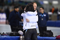 SPEEDSKATING: SALT LAKE CITY: Utah Olympic Oval, 10-03-2019, ISU World Cup Finals, 1500m Ladies, Johan de Wit (coach Japan), Miho Takagi (JPN), world record: 1:49.839, ©Martin de Jong