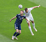 14.06.2021 Scotland v Czech Republic:  Ryan Christie and Ondrej Celustka