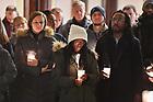 January 20, 2019; MLK Candlelight Prayer Service (Photo by Matt Cashore/University of Notre Dame)