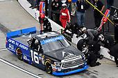 #16: Brett Moffitt, Hattori Racing Enterprises, Toyota Tundra AW N.C. / AISIN GROUP, makes a pit stop