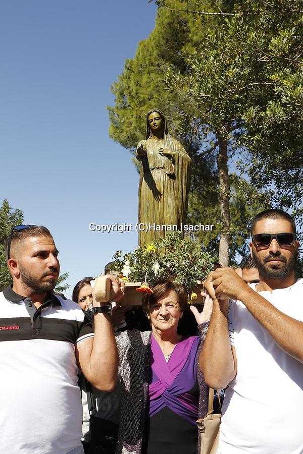 Israel, Shephelah, Feast of Our Lady of Palestine at Deir Rafat Monastery