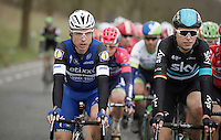 Tony Martin (DEU/Etixx-Quickstep) & Christian Knees (DEU/SKY) in the bunch<br /> <br /> E3 - Harelbeke 2016
