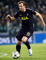 Football Soccer: UEFA Champions League Juventus vs Tottenahm Hotspurs FC Round of 16 1st leg, Allianz Stadium. Turin, Italy, February 13, 2018. <br /> Tottenham's Harry Kane is going to score during the Uefa Champions League football soccer match between Juventus and Tottenahm Hotspurs FC at Allianz Stadium in Turin, February 13, 2018.<br /> UPDATE IMAGES PRESS/Isabella Bonotto