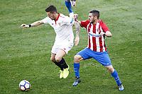Atletico de Madrid's Koke Resurrecccion (r) and Sevilla FC's Stevan Jovetic during La Liga match. March 19,2017. (ALTERPHOTOS/Acero) /NORTEPHOTO.COM