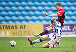 Kilmarnock v St Johnstone...05.04.14    SPFL<br /> David Wotherspoon misses a late chance to make it 3-1<br /> Picture by Graeme Hart.<br /> Copyright Perthshire Picture Agency<br /> Tel: 01738 623350  Mobile: 07990 594431