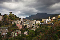 Europe/France/Corse/2B/Haute-Corse/Cap Corse/Nonza: Le village perché