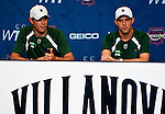 Bob and Mike Bryan during a press conference prior to the Freedoms vs. Explorers WTT match in Villanova, PA on July 16, 2012