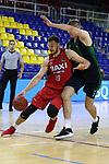 LLIGA NACIONAL CATALANA ACB 2020 AON.<br /> Baixi Manresa vs Club Joventut Badalona: 79-93.<br /> Martynas Sajus vs Simon Birgander.