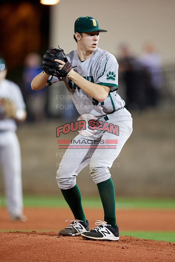 Siena Saints starting pitcher Brendan White (31) gets ready to deliver a pitch during a game against the Florida Gators on February 16, 2018 at Alfred A. McKethan Stadium in Gainesville, Florida.  Florida defeated Siena 7-1.  (Mike Janes/Four Seam Images)