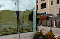 """Paper covers the windows of Orfano, a Fenway-area restaurant that went into hibernation on Nov. 1, 2020 during the ongoing Coronavirus (COVID-19) global pandemic in Boston, Massachusetts, on Wed., Jan. 6, 2021. In an interview with the Boston Globe, owner Tiffani Faison said that the restaurant interior could not be reconfigured for safe indoor dining. """"I'm deeply aware that I don't just get a mulligan...This is a decision I'll be paying for for a very long time, but I don't find myself in a place where I feel like I have a choice,"""" she said."""