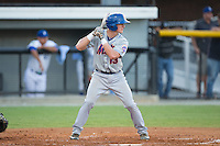 Reed Gamache (13) of the Kingsport Mets at bat against the Burlington Royals at Burlington Athletic Stadium on July 18, 2016 in Burlington, North Carolina.  The Royals defeated the Mets 8-2.  (Brian Westerholt/Four Seam Images)