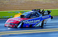 Sept. 25, 2011; Ennis, TX, USA: NHRA funny car driver Bob Tasca III during the Fall Nationals at the Texas Motorplex. Mandatory Credit: Mark J. Rebilas-