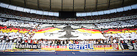 German fans celebrate as their team takes the field. Germany defeated Ecuador 3-0 in their FIFA World Cup Group A match at Olympiastadion, Berlin, Germany, June 20, 2006.