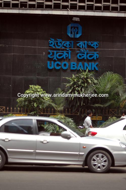 A car waiting in front of UCO BANK main Branch in  Kolkata, West Bengal,  India  7/18/2007.  Arindam Mukherjee/Landov