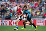 Hong Kong vs Uruguay during the HSBC Sevens Wold Series Qualifier match as part of the Cathay Pacific / HSBC Hong Kong Sevens at the Hong Kong Stadium on 28 March 2015 in Hong Kong, China. Photo by Victor Fraile / Power Sport Images