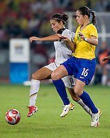 Carli Lloyd, Erika. The USWNT defeated Brazil, 1-0, to win the gold medal during the 2008 Beijing Olympics at Workers' Stadium in Beijing, China.